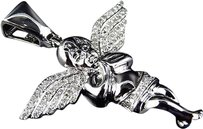 Jewelry Unlimited 10k,White,Gold,Genuine,Diamond,Prayers,Angel,1.5,Pendant,Charm,0.60ct