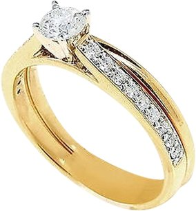 Jewelry Unlimited Ladies,14k,Yellow,Gold,Round,Cut,Engagement,Bridal,Solitiare,Diamond,Ring,.50,Ct