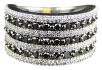 Jewelry Unlimited Mens,White,Gold,Round,Cut,Black,White,Diamond,Pave,Designer,Fashion,Ring