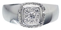 Jewelry Unlimited 18k,White,Gold,Mens,Vs,Round,Diamond,Fashion,Wedding,Band,Ring,0.50ct