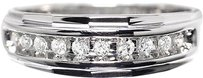 Jewelry Unlimited 10k,White,Gold,Mens,Round,Diamond,8.5mm,Wedding,Band,Ring,0.25ct
