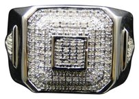 Jewelry Unlimited Mens,White,Gold,Finish,Diamond,Engagement,Wedding,Fashion,Band,Pinky,Ring,.75,Ct