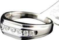 Jewelry Unlimited Mens,10k,White,Gold,Genuine,Diamond,Channel,Set,Wedding,Engagement,Band,Ring