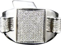 Jewelry Unlimited ,Mens,White,Gold,Finish,Real,Diamond,Xl,Pinky,Fashion,Ring,0.35,Ct