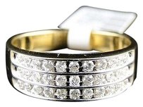 Jewelry Unlimited ,Mens,Yellow,Gold,Round,Cut,Diamond,7.5,Mm,Wedding,Band,Channel,Ring,12,Ct