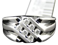 Jewelry Unlimited 10k,Mens,White,Gold,Round,Diamond,Pinky,Fashion,Wedding,Band,Ring,14,Ct