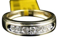 Jewelry Unlimited 10k,Mens,Yellow,Gold,Round,Diamond,6mm,Channel,Set,Wedding,Band,Ring,12,Ct