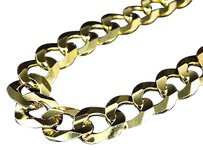 Jewelry Unlimited Real,10k,Yellow,Gold,Chiseled,Curb,Cuban,Link,Style,Chain,Necklace,20-30,11mm