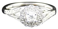 Jewelry Unlimited 10k,Ladies,White,Gold,Diamond,Solitaire,Fashion,Flower,Promise,Engagement,Ring