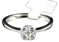 Jewelry Unlimited Ladies,10k,White,Gold,Round,Diamond,Solitaire,Look,Engagement,Wedding,Band,Ring