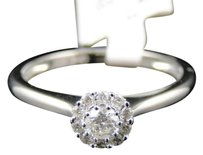 Jewelry Unlimited Ladies,10k,White,Gold,Round,Diamond,Solitaire,Halo,Engagement,Wedding,Band,Ring