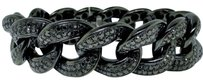 Jewelry Unlimited Mens,21,Mm,Xxl,Black,On,Black,Diamond,Miami,Cuban,Diamond,Bracelet,19.61,Ct