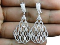 Jewelry Unlimited 14k,Ladies,Rose,And,White,Gold,Diamond,Dangle,Chandelier,Drop,Earrings,1.75,Ct