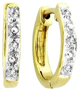 Jewelry Unlimited 10k,Yellow,Gold,Mens,Ladies,Children,Genuine,Diamond,Hoops,Earrings,11mm