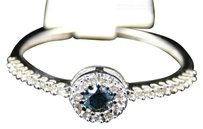 Jewelry Unlimited 10k,Ladies,White,Gold,Round,Cut,Blue,Diamond,Engagement,Wedding,Band,Ring,.21,Ct
