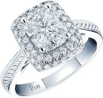 Jewelry Unlimited 14k,White,Gold,Cushion,Cut,Diamond,Ladies,Engagement,Wedding,Ring,1.38,Ct