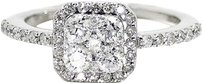 Jewelry Unlimited 14k,White,Gold,Ladies,Round,Cut,Diamond,Bridal,Wedding,Engagement,Ring,1.06,Ct
