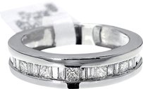 Jewelry Unlimited Mens,Princess,Baguette,Cut,Diamond,6,Mm,Wedding,Band,Ring,In,14k,White,Gold