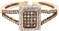 Jewelry Unlimited 14k,Rose,Pink,Gold,Round,Diamond,Brown,Cognac,Wedding,Band,Engagement,Ring,12,C