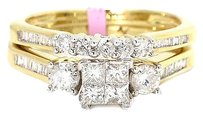 Jewelry Unlimited Ladies,Princess,Cut,Invisible,Set,Diamond,Engagement,Ring,In,10k,Yellow,Gold,1ct