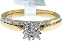 Jewelry Unlimited Ladies,10k,Yellow,Gold,Round,Cut,Engagement,Bridal,Solitaire,Diamond,Ring,Set