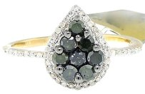 Jewelry Unlimited 10k,Yellow,Gold,Round,Cut,Black,Diamond,Tear,Drop,Engagement,Fashion,Ring,0.70