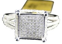 Jewelry Unlimited 10k,White,Gold,Round,Cut,Pave,Diamond,Xl,Kite,Engagement,Fashion,Ring,0.55,Ct