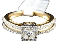 Jewelry Unlimited 14k,Ladies,Yellow,Gold,Princess,Cut,Diamond,Bridal,Engagement,Ring,0.52,Ct