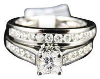 Jewelry Unlimited 14k,Ladies,Princess,Diamond,Solitaire,Wedding,Engagement,Duo,Ring,Set,1.00ct