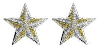Jewelry Unlimited Yellow,Gold,Finish,Unisex,Yellow,Canary,Diamond,18.5mm,Star,Stud,Earrings,0.75ct