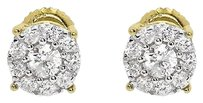 Jewelry Unlimited 14k,Yellow,Gold,Mens,Ladies,Round,Diamond,Solitaire,5mm,Studs,Earrings,0.33,Ct