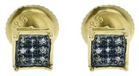 Jewelry Unlimited Yellow,Gold,Finish,Men,Ladies,5mm,Blue,Diamond,4,Prong,Mini,Stud,Earrings,120ct