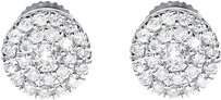 Jewelry Unlimited 14k,White,Gold,Mens,Ladies,Round,Diamond,5mm,Prong,Cluster,Stud,Earrings,14ct