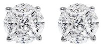 Jewelry Unlimited 14k,White,Gold,Men,Ladies,Solitaire,Look,Aleena,7mm,Diamond,Studs,Earrings,1,Ct