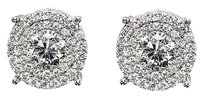 Jewelry Unlimited Men,Ladies,14k,White,Gold,Solitaire,Look,Diamond,9,Mm,Studs,Earrings,1.25,Ct