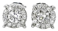 Jewelry Unlimited Mens,Ladies,14k,White,Gold,Round,Cut,6.5mm,Solitaire,Diamond,Stud,Earrings,.66ct
