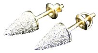 Jewelry Unlimited Mens,Ladies,Real,Yellow,Gold,Diamond,Spike,Nail,Stud,Earrings,6,Mm,.65,Ct