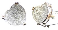 Jewelry Unlimited Ladies,14k,Rose,Gold,Diamond,Heart,Pave,Shape,Stud,Earrings,13,Mm,0.80,Ct