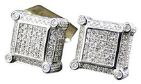Jewelry Unlimited Mens,Ladies,Real,White,Gold,Diamond,Cube,Dice,Stud,Earrings,11,Mm,2.62,Ct