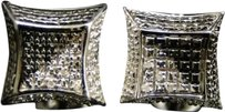 Jewelry Unlimited White,Gold,Finish,Round,Cut,3d,Black,And,White,Diamond,Kite,Stud,Earrings,8,Mm