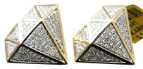 Jewelry Unlimited Mens,Ladies,10k,Yellow,Gold,Round,Cut,Pave,Diamond,Studs,Earrings,.70,Ct,19,Mm