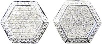 Jewelry Unlimited Mens,Or,Ladies,White,Gold,Finish,Round,Diamond,3d,Hexagon,Studs,Earrings,1,Ct