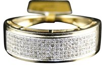 Jewelry Unlimited Yellow,Gold,Finish,Mens,Ladies,White,Diamond,7.5,Mm,Wedding,Band,Ring,12,Ct
