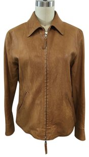 Jil Sander Distressed Camel Brown Jacket