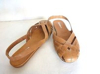 Jil Sander Jil Slingback Flatslarge Woven Design 636 tan Sandals