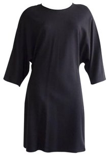 Jil Sander short dress Black Stretch Dolman Sleeve Tunic Sz40 Hs1600 on Tradesy