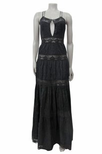 Black Maxi Dress by Jill Stuart Lace Panel