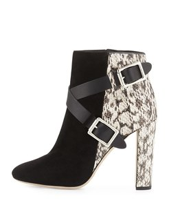 Jimmy Choo Dee Natural / Black Boots