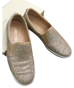 Jimmy Choo Beige Glitter Athletic
