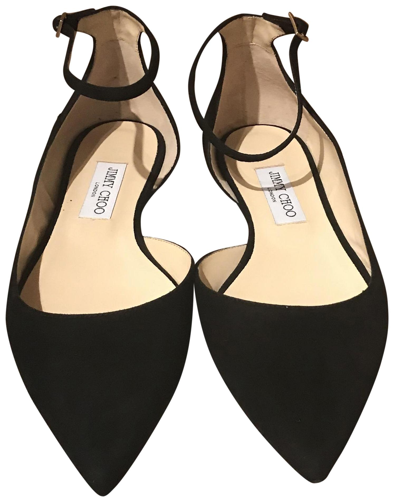 Jimmy US Choo Black Lucy Flats Size EU 40.5 (Approx. US Jimmy 10.5) Regular (M, B) f3f122